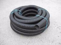 Drainage perforated pipe complete with coupler - 100 mm x 50 meter long - 2 off!!