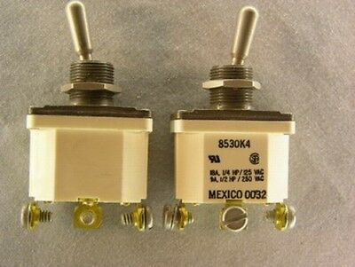 2 Eaton 8530k4 Spdt Econoswitch Sealed Toggle Switches