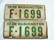 Vintage Washington License Plates
