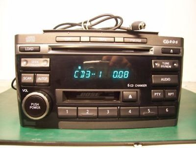 (2000 - 2003 NISSAN MAXIMA BOSE Radio 6 CD Player ADDED AUX INPUT CR260 CR070)