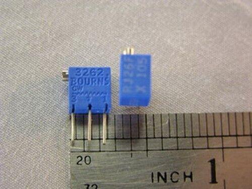 4 Mil-Spec Bourns RJ26FX105 1 Meg Trimmer Potentiometers
