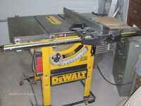 Dewalt Table Saw,Router + Acc., Craftsman Scroll Saw Package