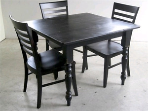 LOOKING for a square kitchen table