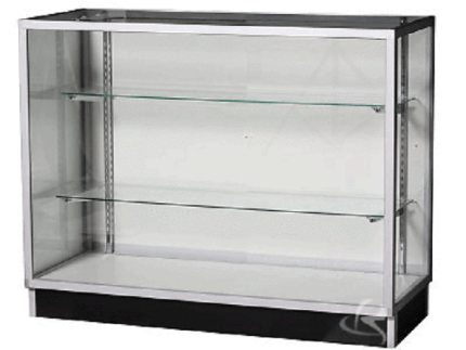 1.2m long two shelves GLASS Showcase Display Cabinet Counter KD4G