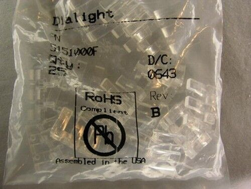 25 Dialight 515-1000F 3x5.5mm Rect. Micro LED Optopipe Optical Lt Pipe 3 Array