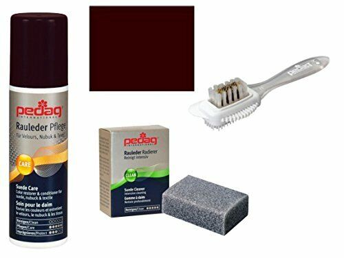 Pedag Suede Sheepskin Nubuck Leather and Textile Color and Care Kit, Dark Brown,