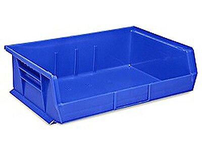 Blue Stackable Storage Bin 11l X 16-12 W X 5h - Lot Of 6 S-13537blu