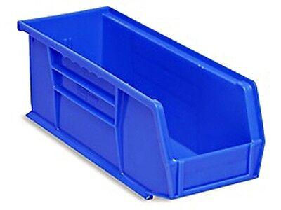Blue Stackable Storage Bin 11l X 4w X 4h - Lot Of 12 S-13536blu