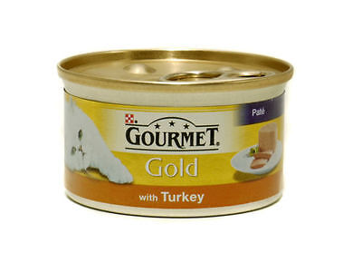 Gourmet Gold Turkey Pate Cans 12 x 85 g Tins Wet Cat Food
