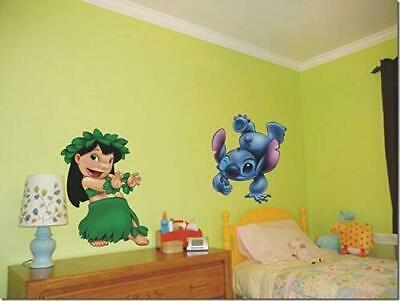 Lilo And Stitch Decorations (Lilo and Stitch Cute Hula Dance Hawaii Vinyl Wall STICKER Home Decor Decal)