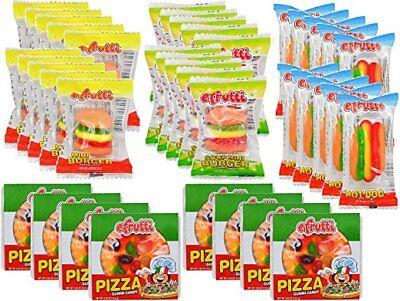 eFrutti Gummi Candy Variety Party Pack: Pizzas Mini Burgers Sour Mini - Gummy Pizza