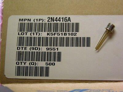 8 Motorola 2n4416a 35v 5ma N-channel Jfet Rf Amplifier Transistors To-72