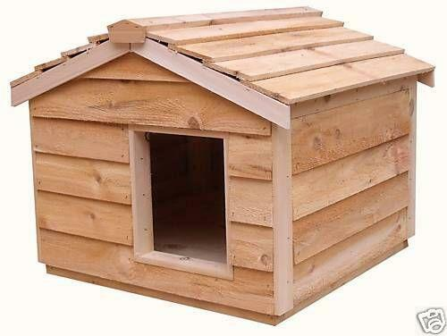 Heated dog house ebay for Insulated outdoor dog house