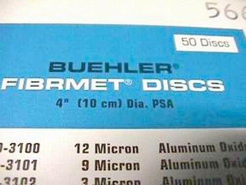 "50 Buehler 69-3101 Fibrmet Discs 4"" Diameter 9 Micron for Fiber Optic Polishing"