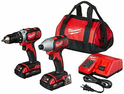 Milwaukee 2691-22 18-Volt Compact Drill And Impact Driver Co