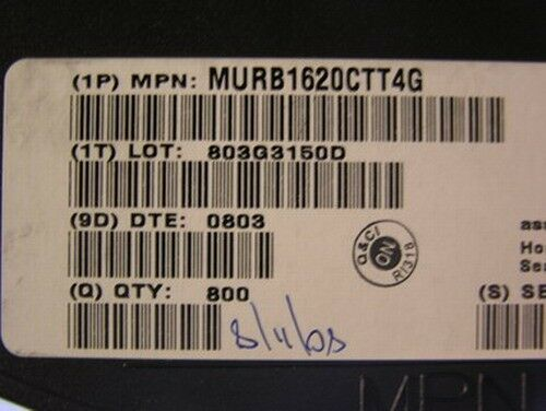 800 ON Semiconductor MURB1620CTT4G Power Rectifiers
