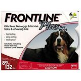 Frontline Plus for Extra Large Dogs (89 - 132 lbs, 6 Months Supply) EPA Approved