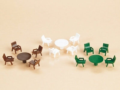 Auhagen kit 41607 NEW HO WOODEN TABLES AND CHAIRS