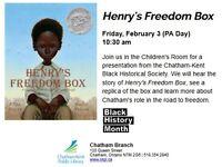 Henry's Freedom Box at Chatham Branch, CKPL