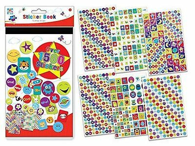 1500 Sticker School Children Kids Teacher Dentist Label Reward Fun Card Making