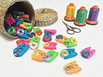 Lot of 48 Universal Bobbin Clamps  - Keep your bobbins organized, Untangled