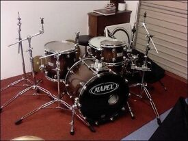 Mapex Saturn With Rare Discontiuned Mapex Black Panther Memphis Snare