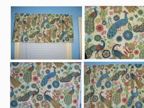 Peacock blue curtains ebay