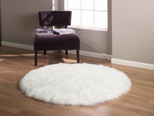 Round Fur Rug Ebay