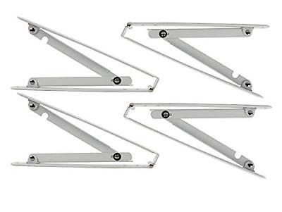 4pcs Wall-mounted Folding Shelf Bracket 12 Inch & 16 Inch Wa