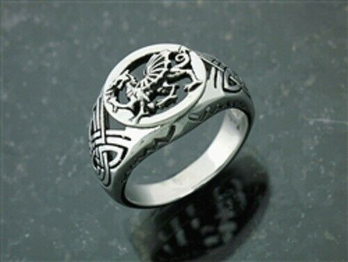 l,316L Stainless Steel Welsh Dragon Ring Sz 9-13