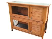 Nearly new - Two-level guinea pig hutch