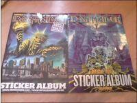 2 iron maiden sticker albums