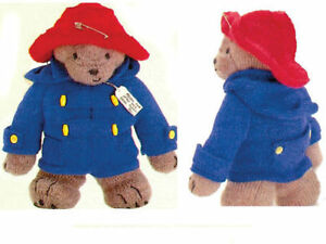 PADDINGTON BEAR TOY ~ EASY KNITTING PATTERN - 1989 FAMILY CIRCLE COPY 99p