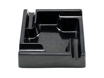Heavy Duty Melamine Black Square 4 Cigar Indoor & Outdoor Ashtray