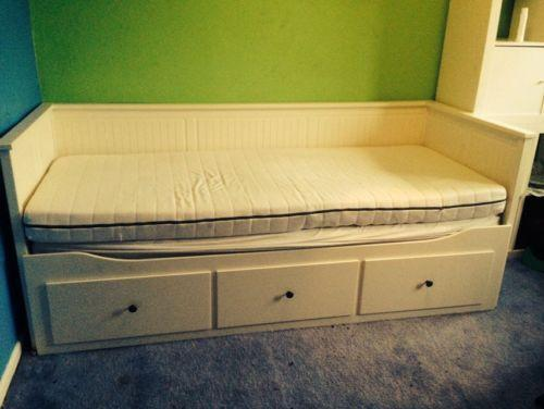 ikea hemnes day bed ebay. Black Bedroom Furniture Sets. Home Design Ideas