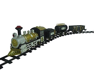 Classic Locomotive Train Set With Light And Sound Battery Operated Railway Car
