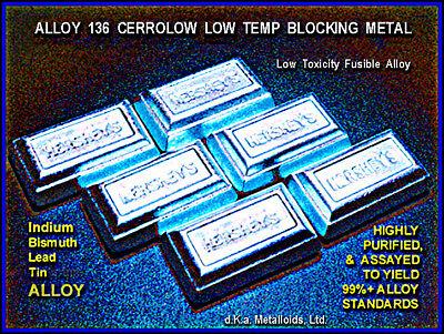 Alloy 136f Metal - Indiumbismuthtin Lead - No Cadmium 100 Grams Fresh Mfg.