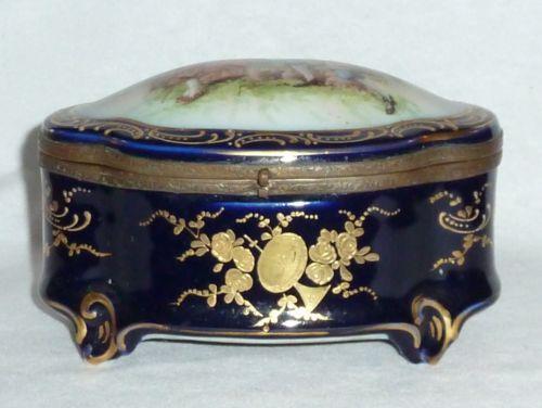 Antique Porcelain Jewelry Box Ebay