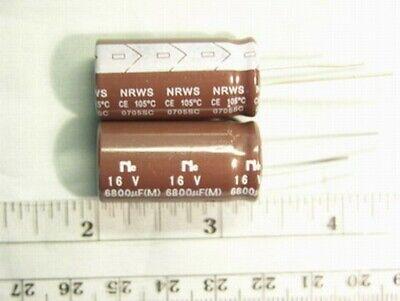 8 Nic Nrws682m16v 6800uf 16v 105c Radial Electrolytic Capacitors