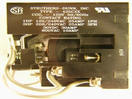 Struthers-Dunn type 425CXX 3 Phase 25A Contactor