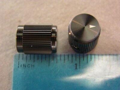 5 Alcoknob Kn-501b 18 Black 18 Machined Aluminum Instrument Knobs