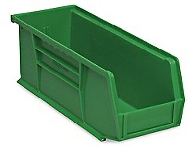 Green Stackable Storage Bin 11l X 4w X 4h - Lot Of 12 S-13536g