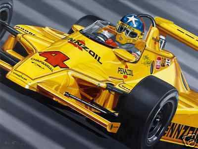 Johnny Rutherford Jr Painting 1980 Indy 500 Pennzoil Chaparral  Colin Carter