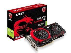 MSI NVIDIA GTX 970 Gaming Twin Frozr HDMI DVI-I DP Graphics Card (4GB, PCI Express, DDR5, 256 Bit)