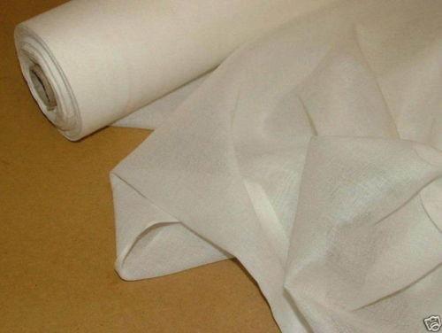 White Cotton Voile Fabric Ebay