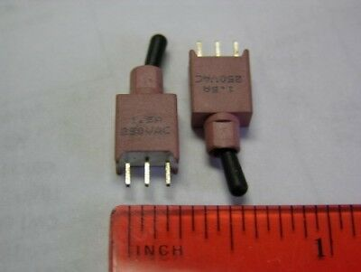 10 Spdt Pcb Mount 1.5a 250vac Ultra-miniature Toggle Switches .32wx.19tx.78h