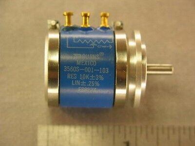 1 Bourns 3560s-001-103 10k Precision Wirewound Potentiometer Servo Mount