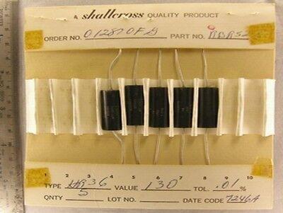 5 Vintage Shallcross Hr36 Ultra Precision Resistors Your Choice
