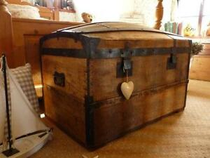 Light Switches Metal Chest Solid Shop For Cheap Very Nice Old Suitcase Overseas Travel Cases Wooden Box M Antiques