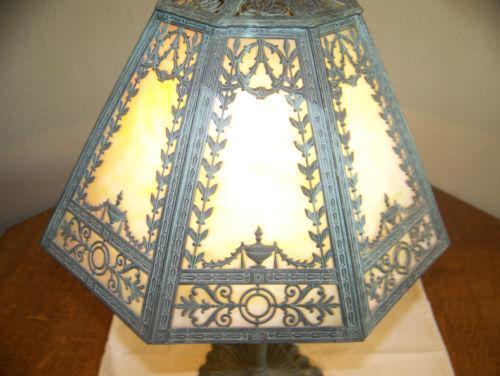 Miller Slag Glass Lamp Ebay